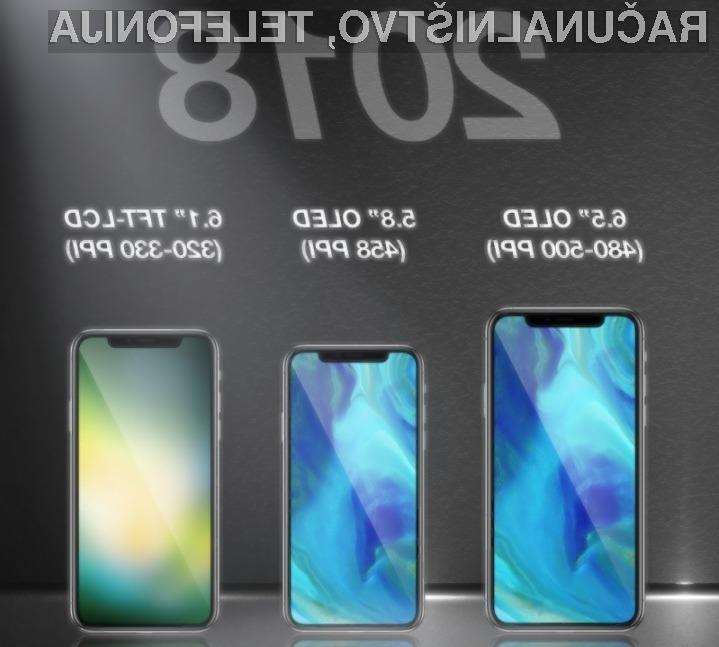 Apple naj bi kmalu ponudil v prodajo kar tri nove telefone iPhone!