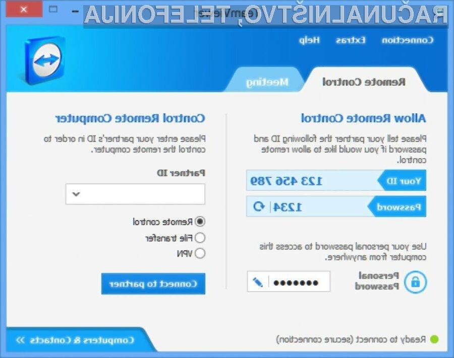 Če še niste posodobili programa TeamViewer, to storite takoj!