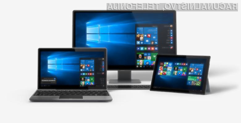 Microsoft Windows 10 pridobiva na priljubljenosti kot za stavo!