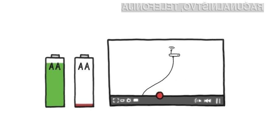 Za en ogled sta potrebni dve AA bateriji