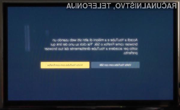 YouTube uporabnikom naprav Amazon Fire TV ni več neposredno dosegljiv!