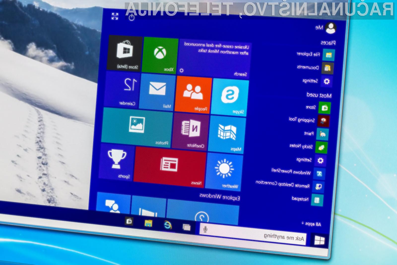 Novi Windows 10 prinaša zvrhan kup zanimivih novosti!