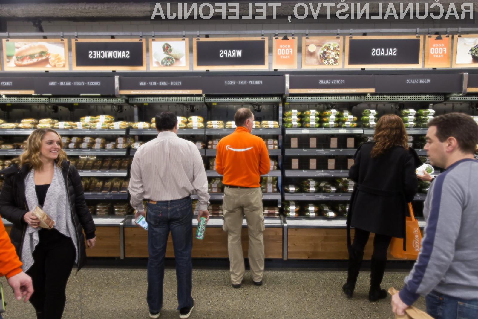 Futuristična trgovina Amazon Go je končno na voljo običajnim kupcem.