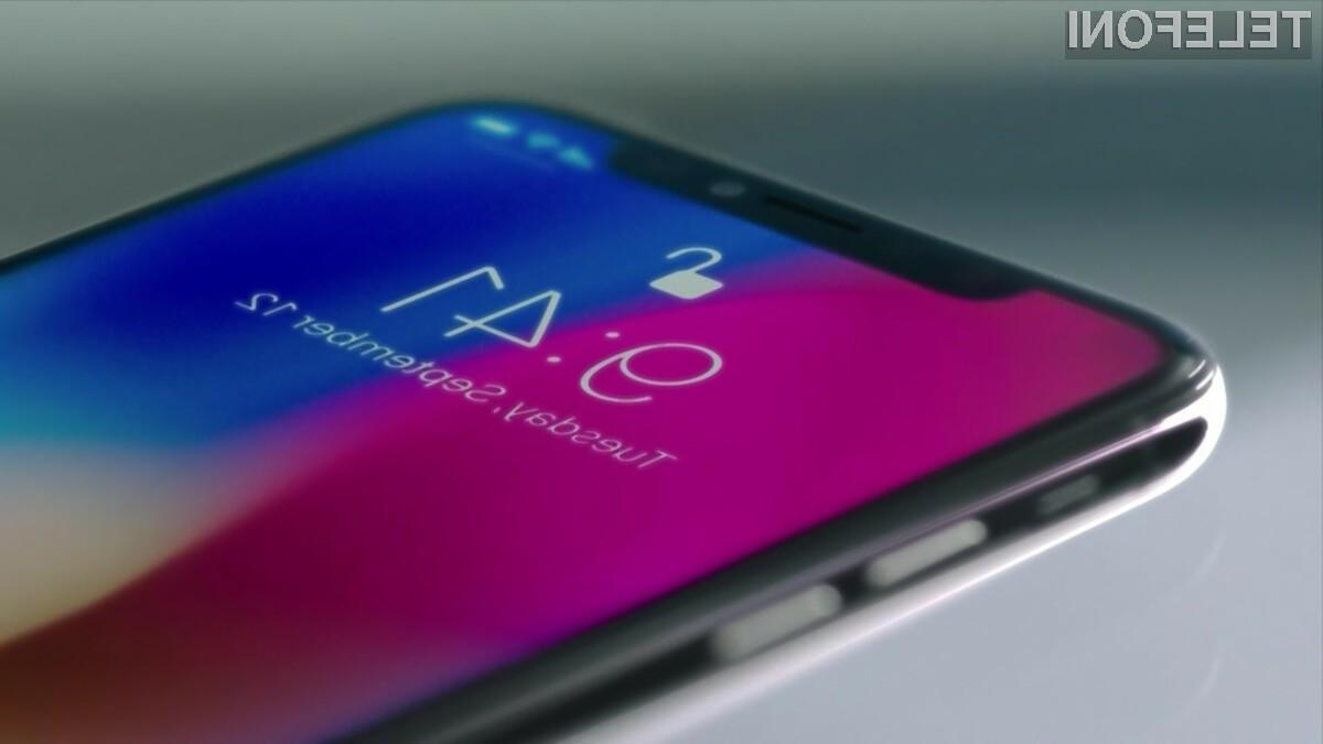 Podjetju Apple je do odličnih prodajnih rezultatov pripomogel pametni mobilni telefon iPhone X.
