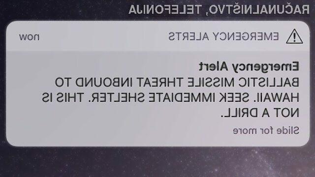 Sporočilo o napadu