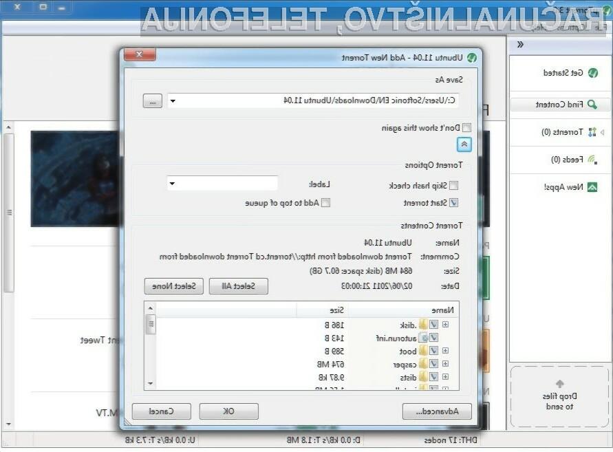 Nemudoma posodobite program uTorrent, saj je ta ranljiv na spletne napade!