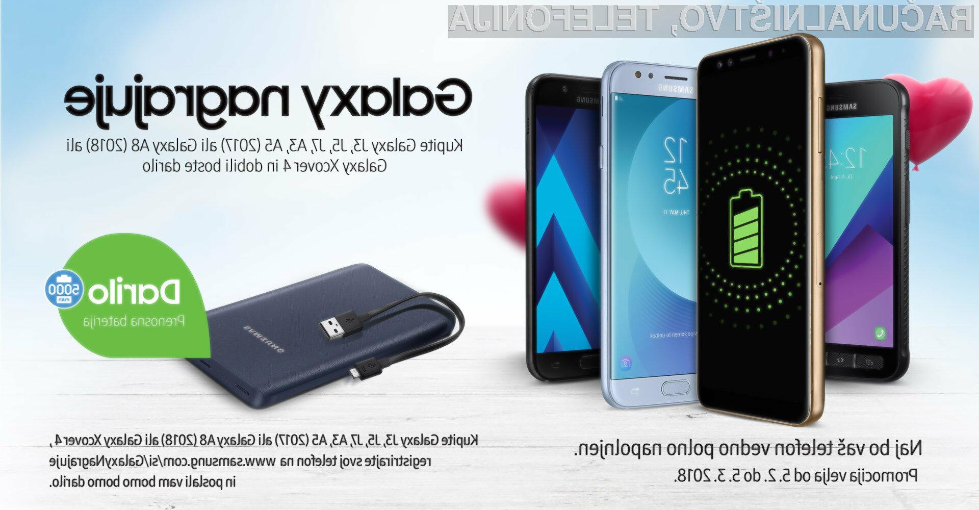 Samsung podarja polnilne baterije