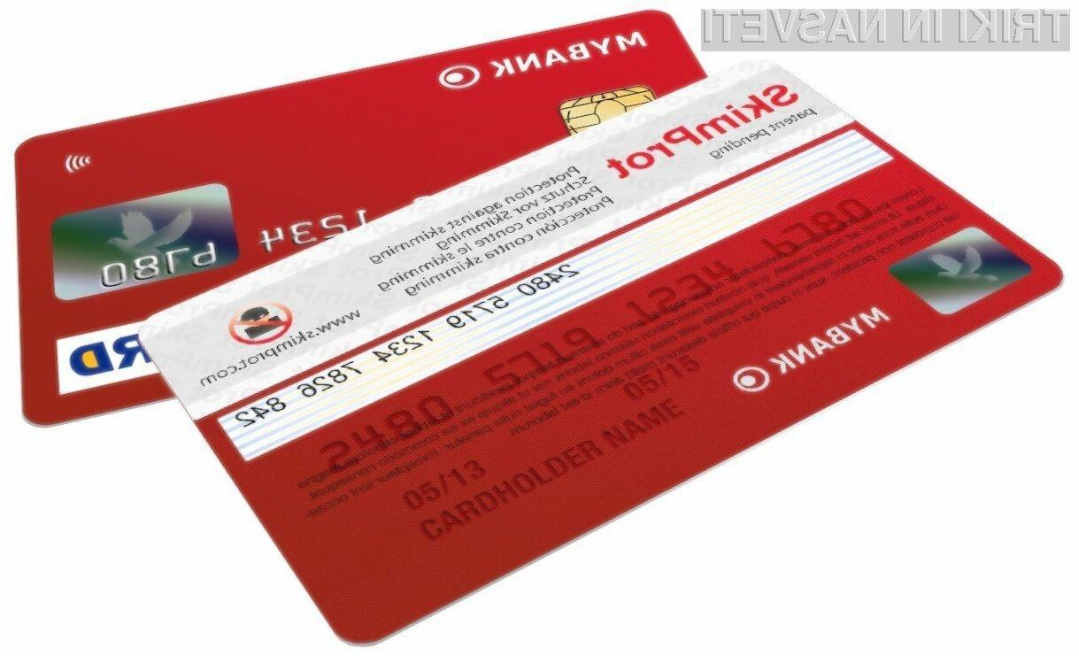 Zaščitite svojo bančno kartico pred krajo