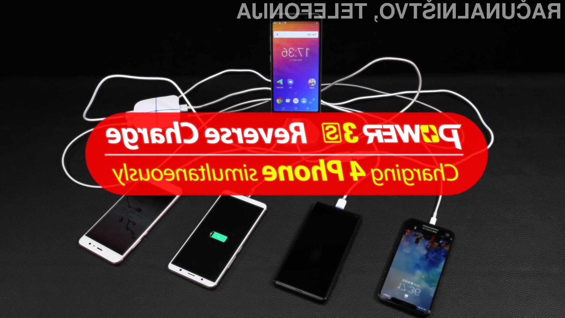 Ulefone Power 3S se dejansko lahko prelevi v zunanjo polnilno postajo!