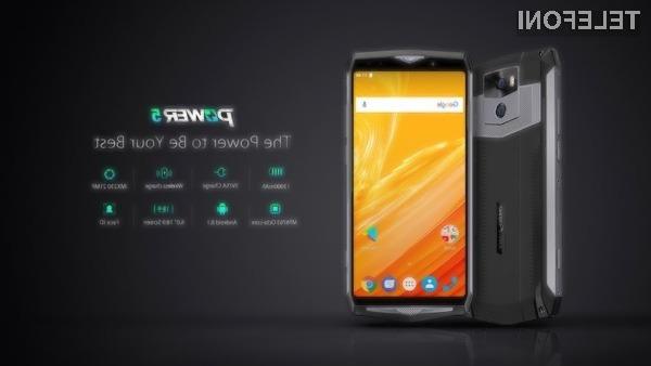 Pametnega mobilnega telefona Ulefone Power 5 ne bo treba veliko polniti.