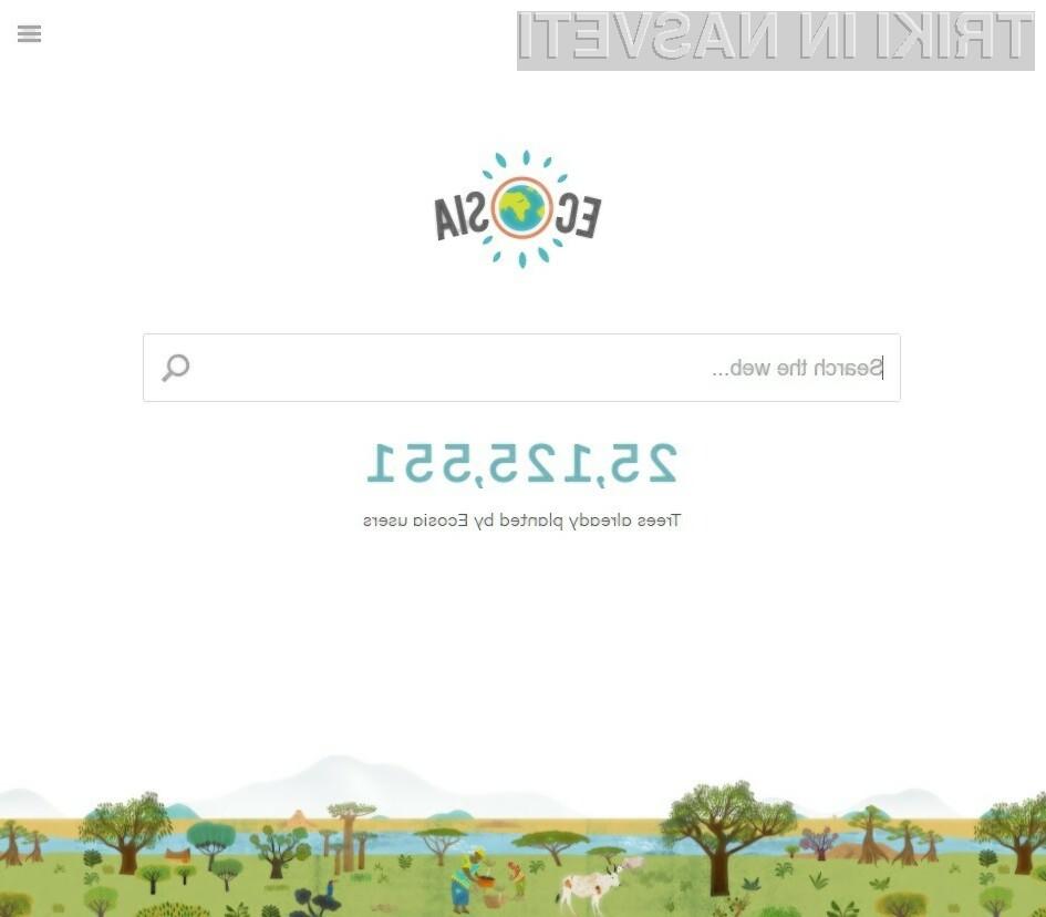 Brskanje po spletu pomaga pri ohranjanju okolja