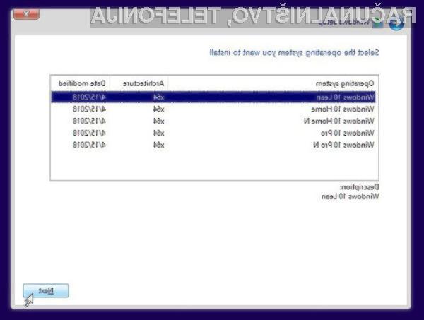 Windows 10 Lean bo pisan na kožo manj zmogljivim računalniškim sistemom.