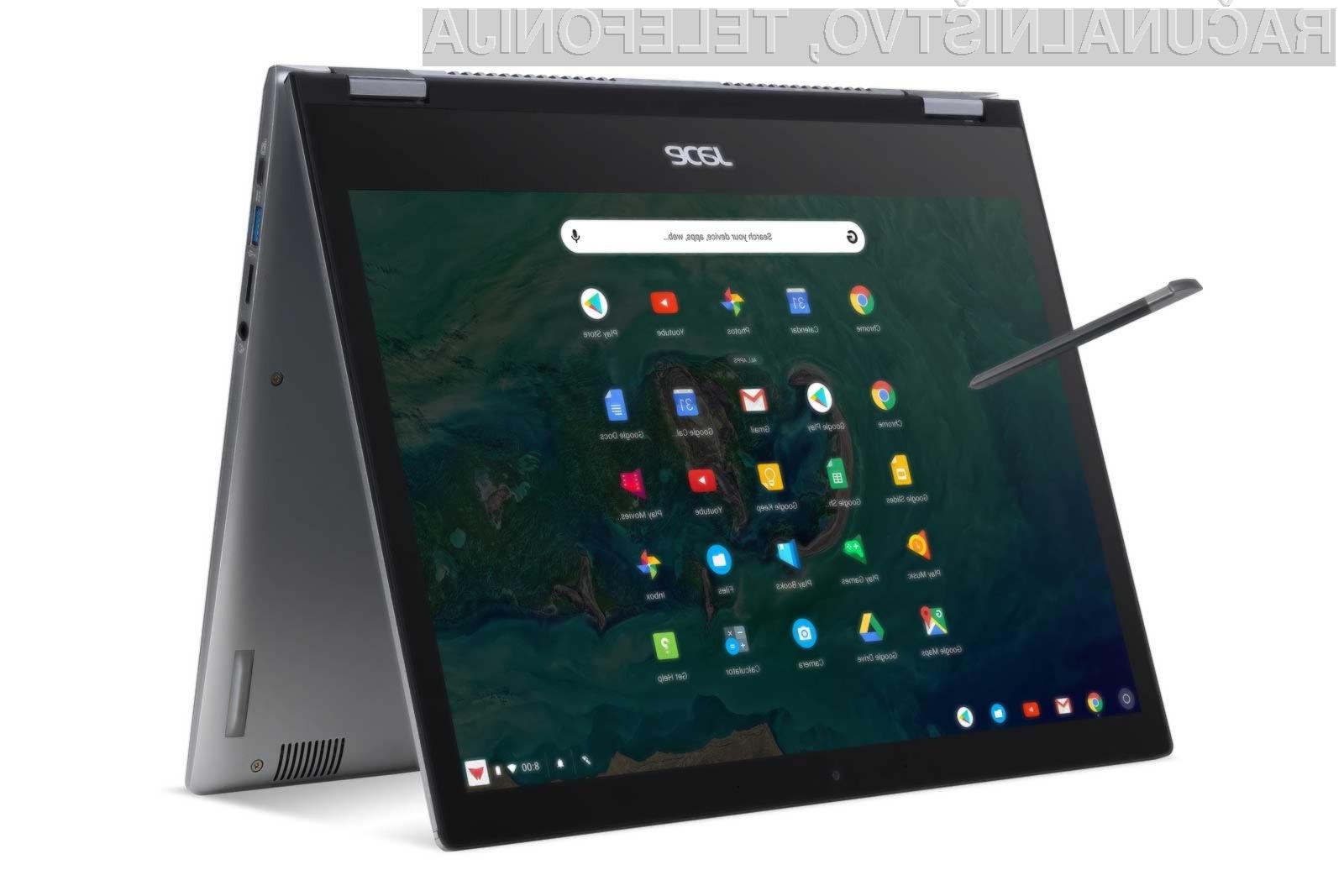 Prenosni računalnik 2-v-1 Acer Chromebook Spin 13 se bo zagotovo takoj prikupil poslovnežem!