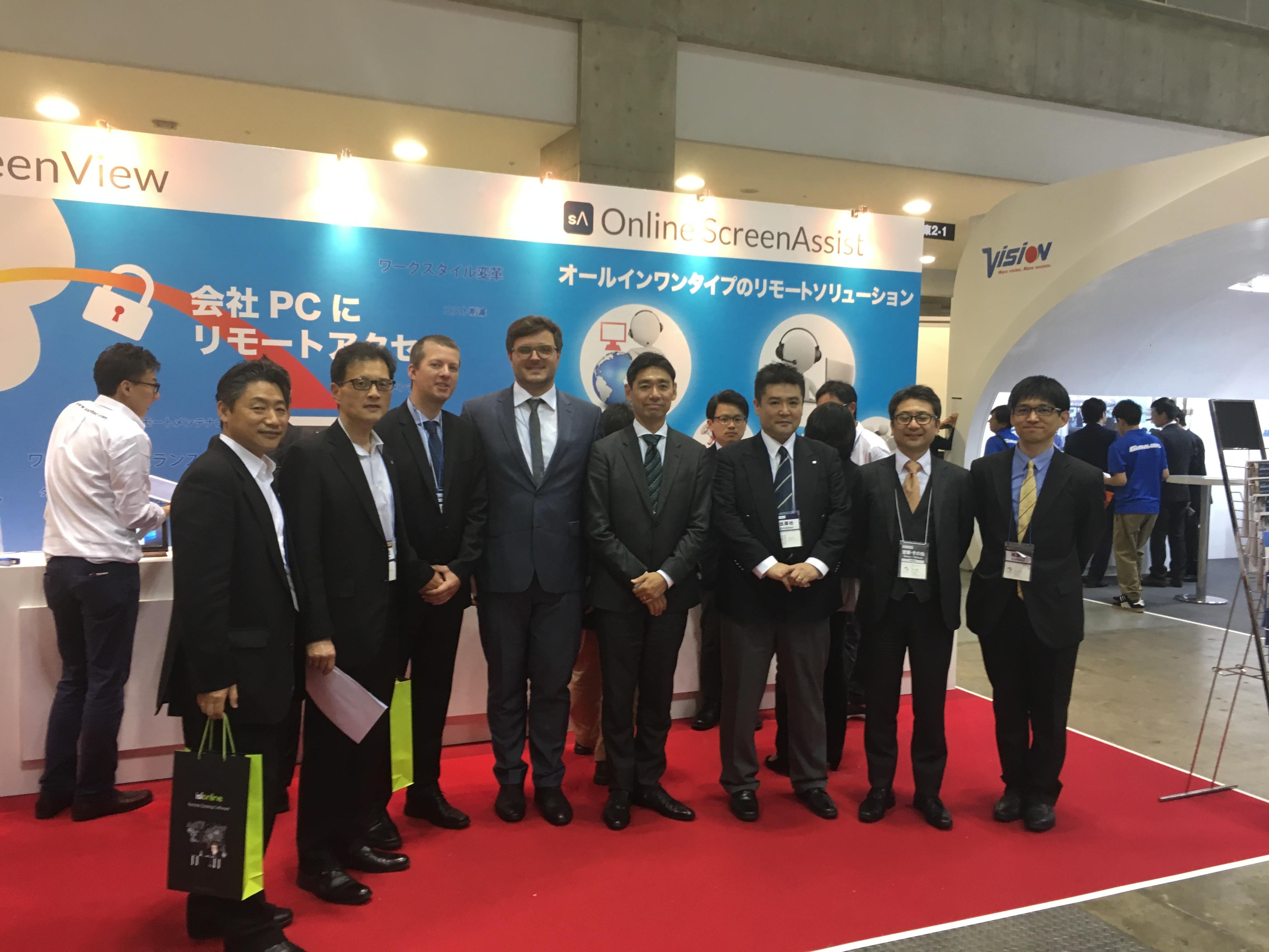 Ekipa Santec - OceanBridge - XLAB na sejmu Japan IT Week.
