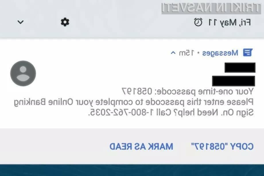Android Messenger bo omogočal lažje kopiranje avtorizacijskih kod