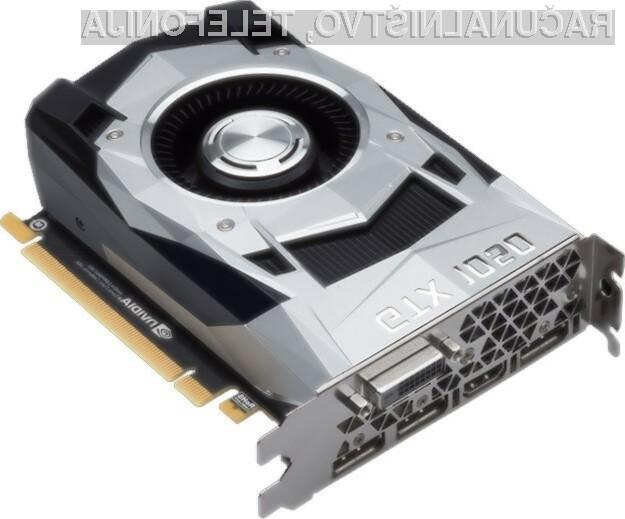 Prenovljena grafična kartica Nvidia GeForce GTX 1050 bi morala biti dovolj tudi za nekoliko grafično zahtevnejše računalniške igre.