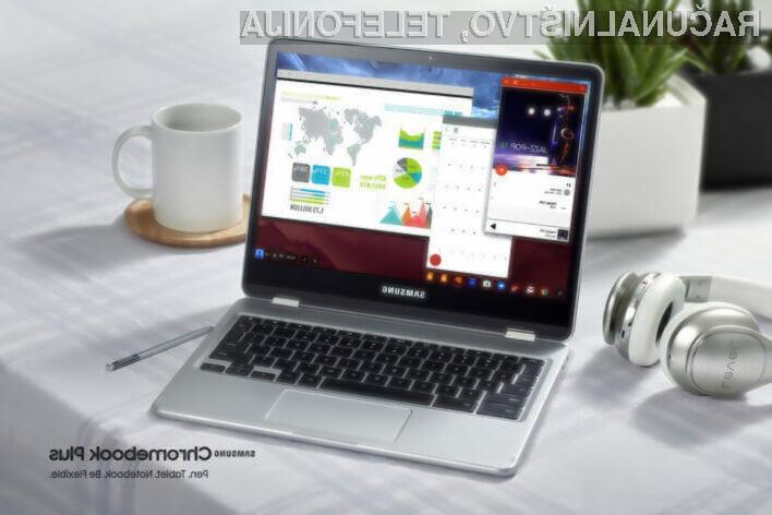 Prvi osebni računalnik Chromebook, ki bo dobil možnost poganjanja Linux aplikacij, je Samsung Chromebook Plus.