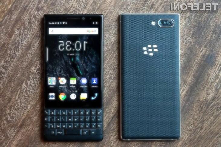 Pametni mobilni telefon BlackBerry Key2 bo skušal prepričati predvsem poslovne uporabnike!