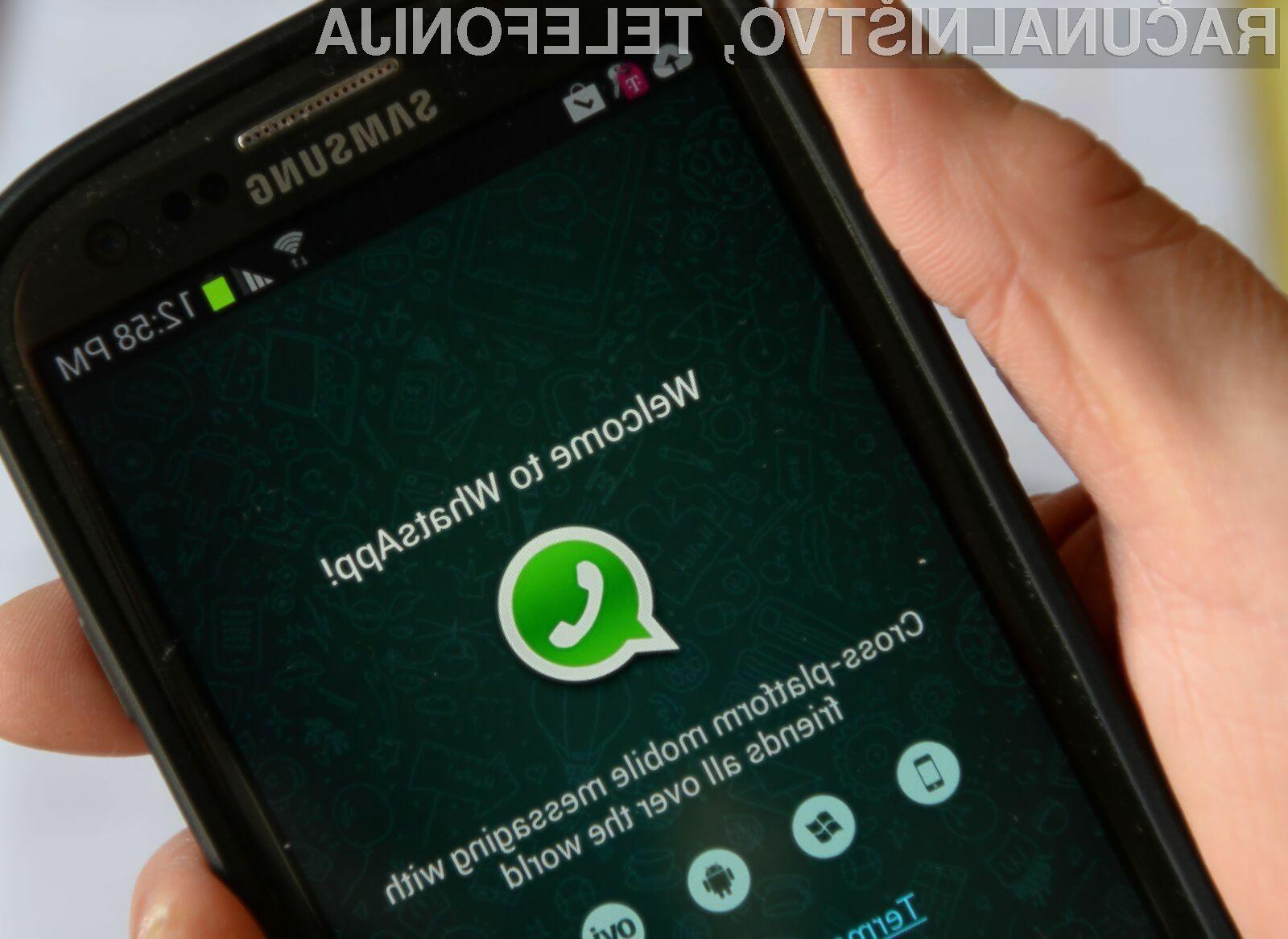 WhatsApp je bil pripravljen z namenom izmenjave zasebnih sporočil!