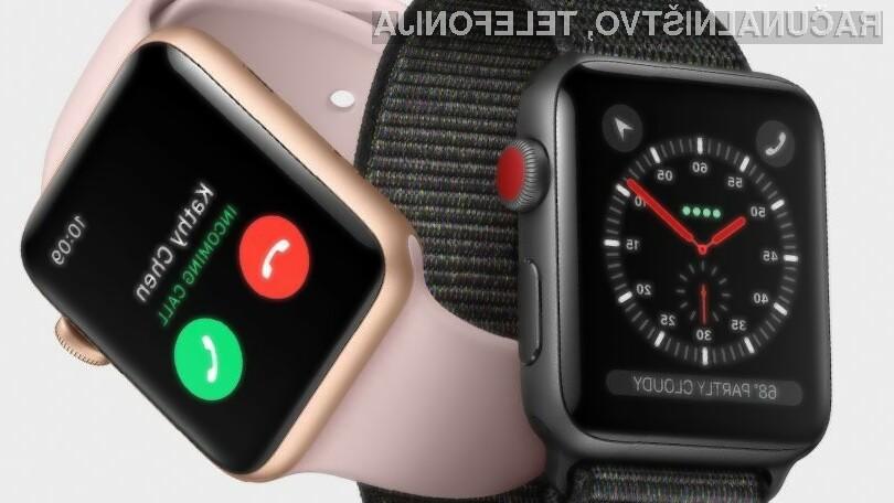 Podjetje Apple obvladuje 34 odstotkov trga pametnih ročnih ur.