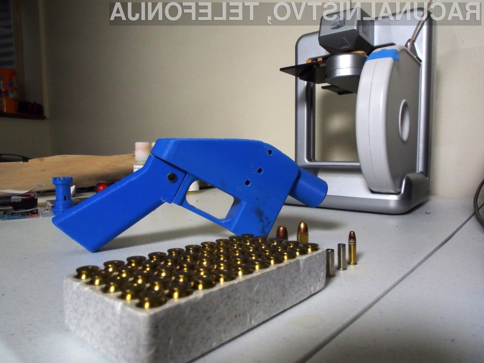 V ZDA bo prenos načrtov za tiskanje orožja s 3D tiskalniki kmalu postal povsem legalen.