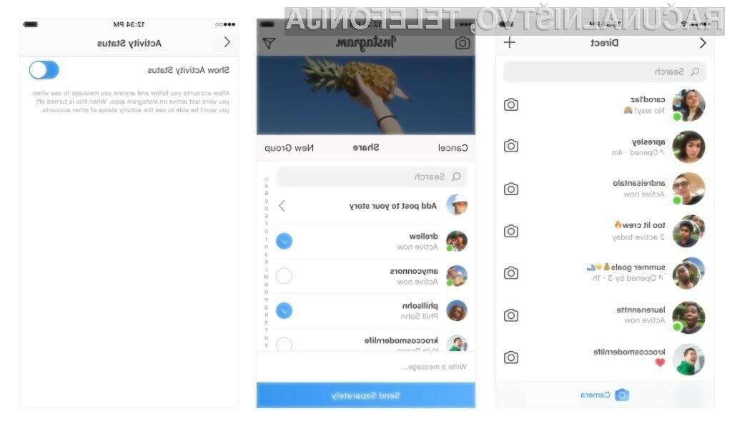 Vaši prijatelji bodo odslej vedeli, kdaj ste aktivni na Instagramu!