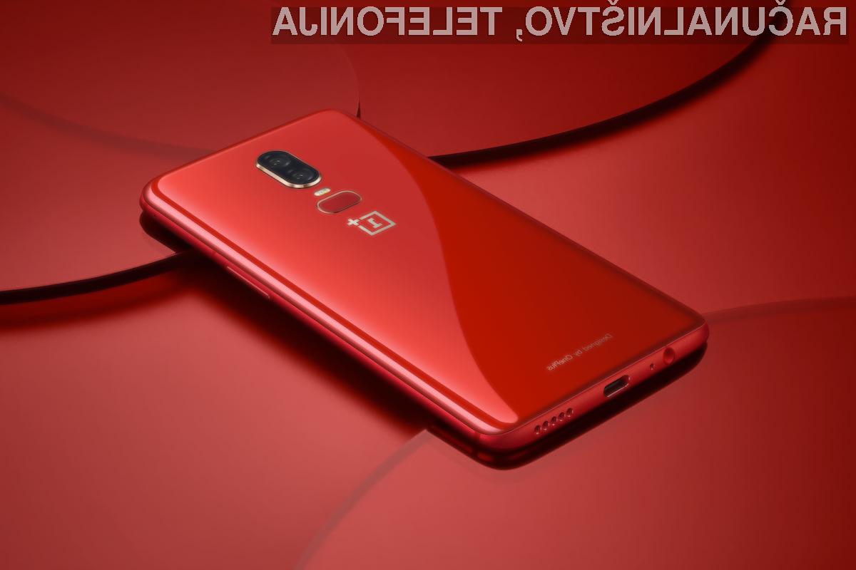 Rdeče obarvani OnePlus 6 zagotovo navdušuje v vseh pogledih!