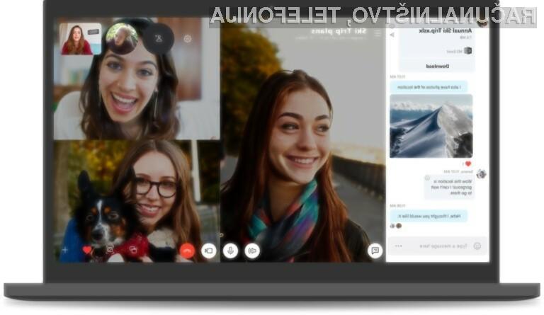 Novi Skype 8.0 prinaša zvrhan kup uporabnih novosti!