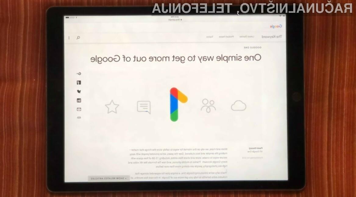 Storitev Google One prinaša nižje cene in enostavnejšo uporabo.