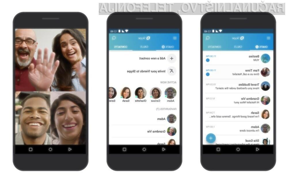 Skype za Android z možnostjo snemanja klicev!