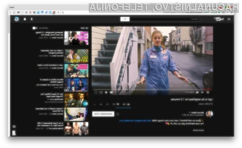 Grafični vmesnik v temni barvni shemi oziroma »dark mode« je navdušil že mnoge uporabnike portala YouTube!