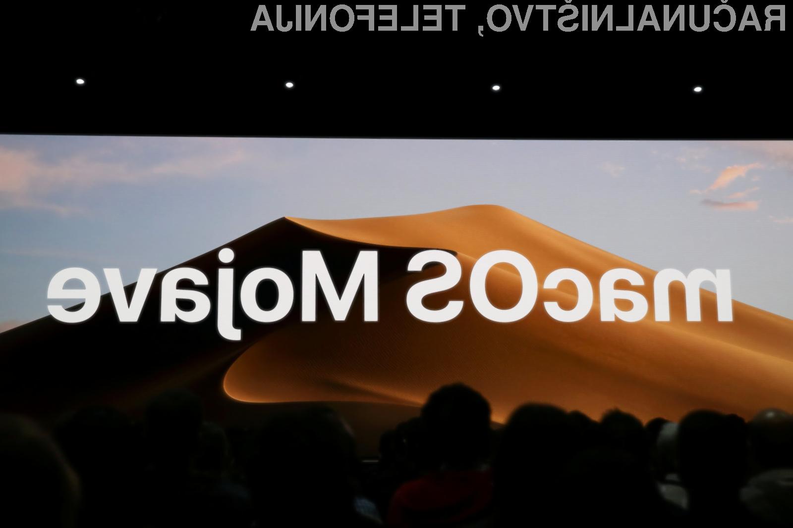 Novi operacijski sistem Apple macOS 10.14 Mojave bo na voljo od 24. septembra naprej!