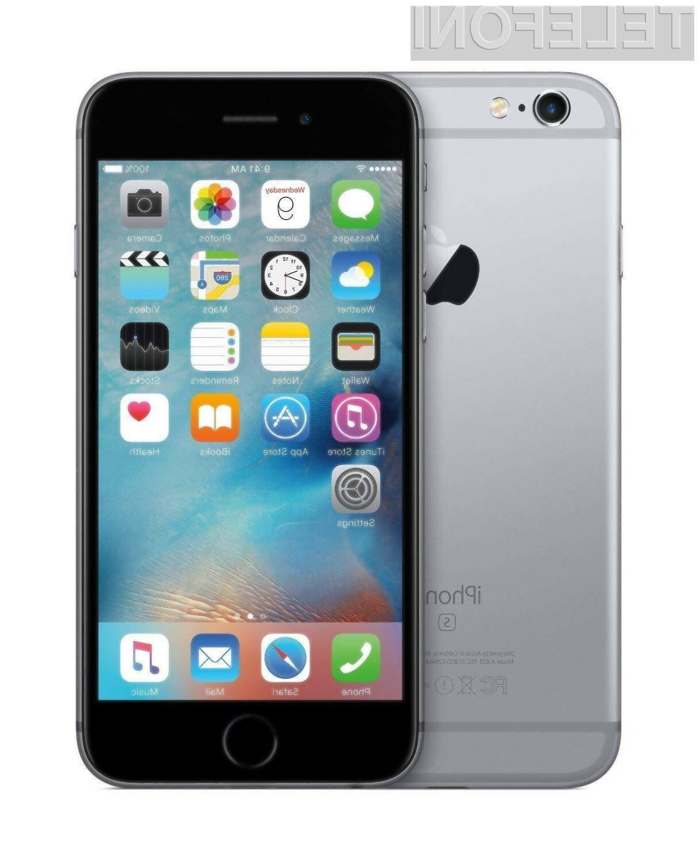 Vstopni model pametnega mobilnega telefona iPhone 6S je lahko naš že za 228,85 evrov!