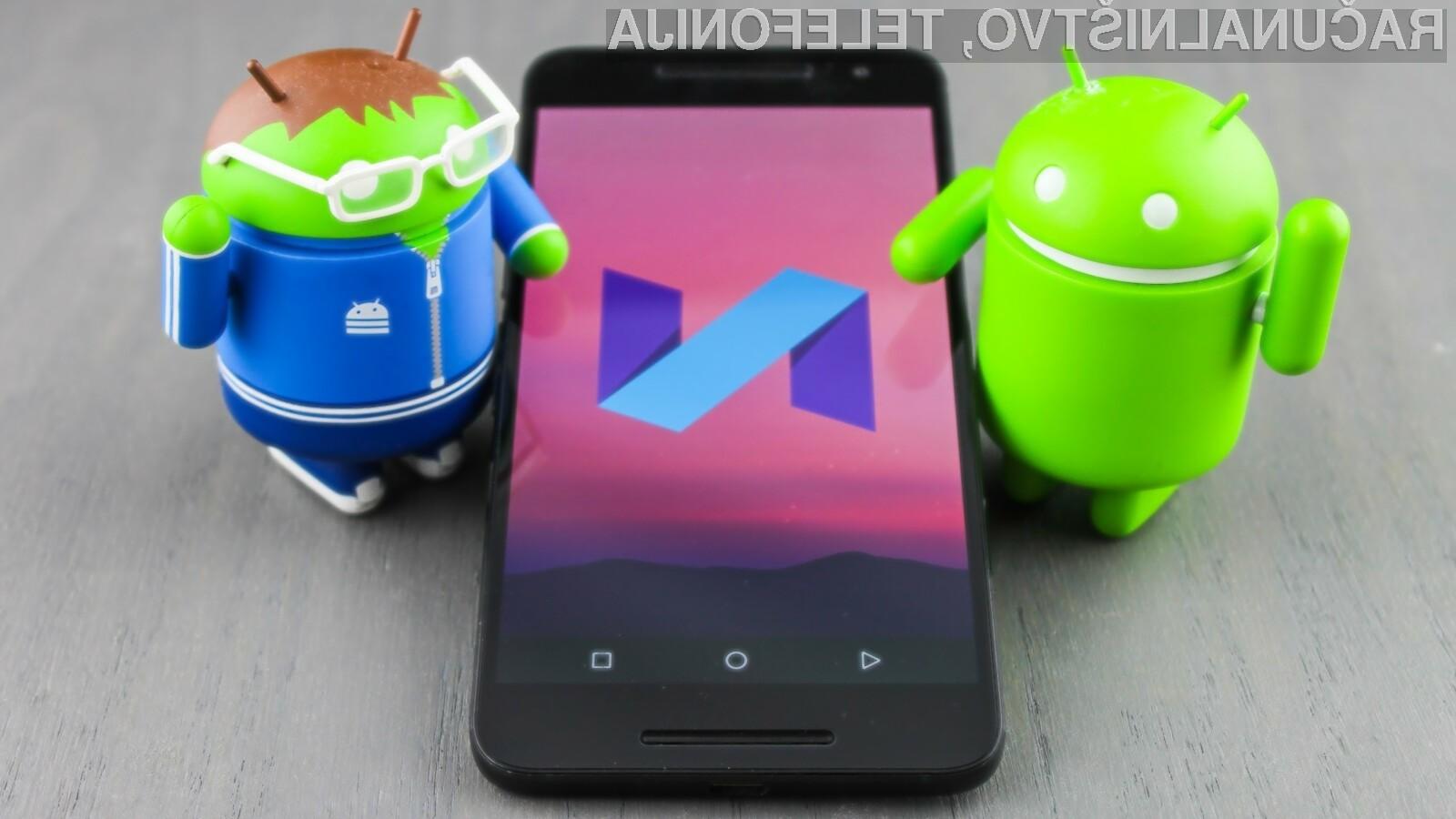 Med operacijskimi sistemi Android po priljubljenosti trenutno vodi Android 7 Nougat!