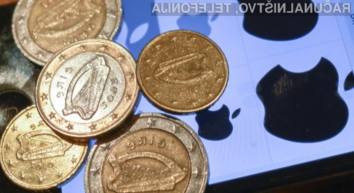 Podjetje Apple je Irski skupaj izplačalo kar 15,8 milijarde evrov zaradi nezakonitih davčnih ugodnosti.