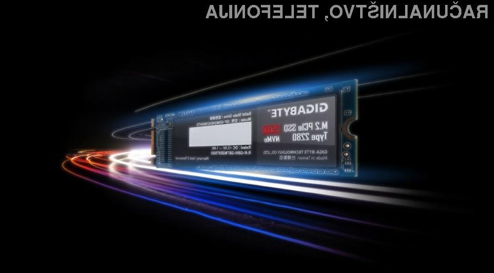 Podjetje Gigabyte se vse bolj pa se uveljavlja tudi na področju pogonov SSD.