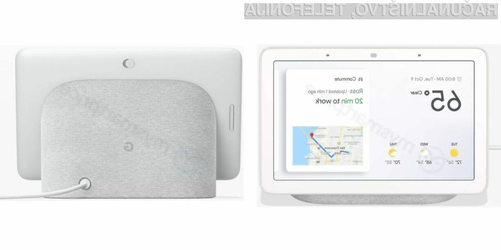 Google pripravlja poseben pametni zvočnik z zaslonom!