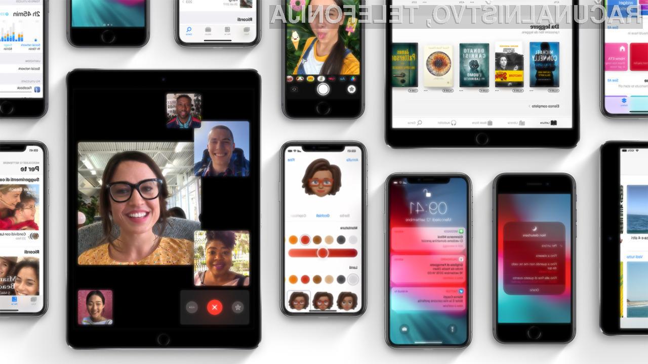Novi iOS 12 bodo prejele le novejše Applove naprave!