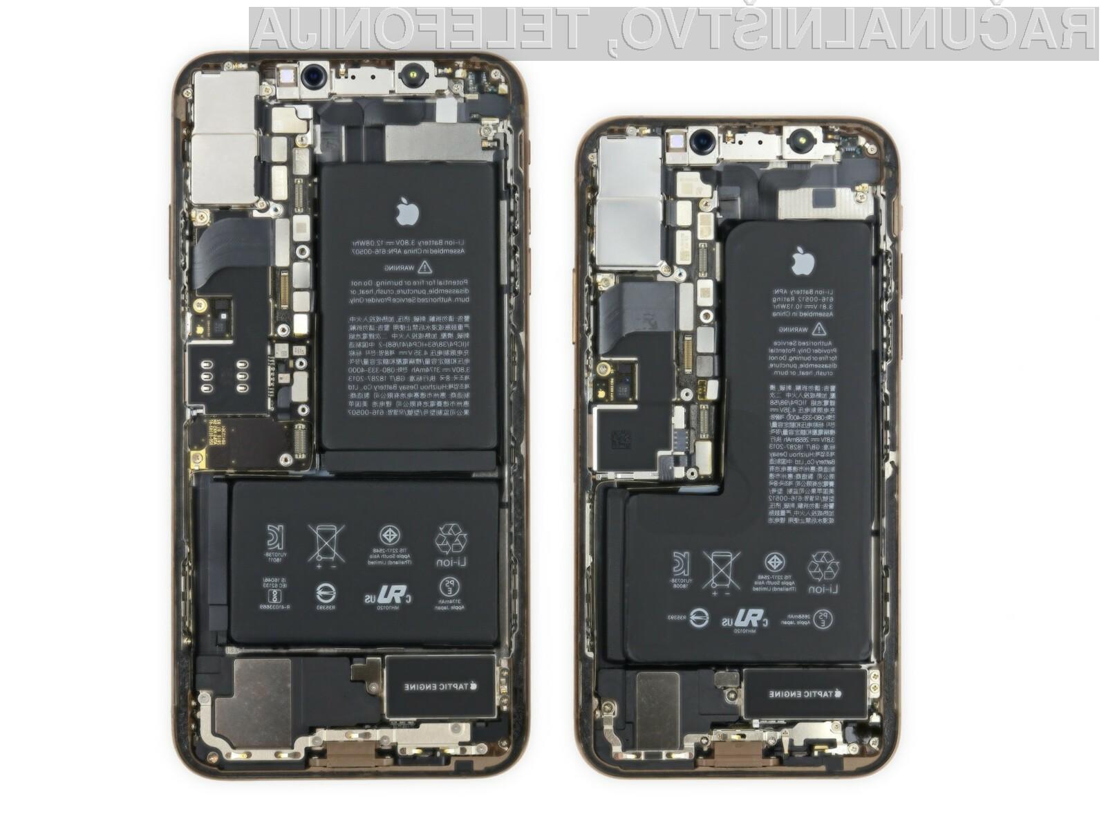 Pametna mobilna telefona iPhone Xs in iPhone Xs Max sta si od 10 možnih točk na račun popravljivosti prislužila kar šest točk.