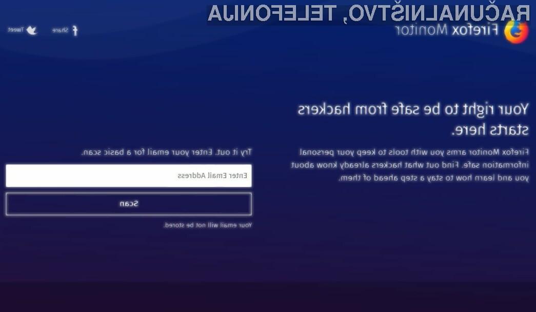 Firefox Monitor vam bo razkril, ali so vam hekerji ukradli geslo!