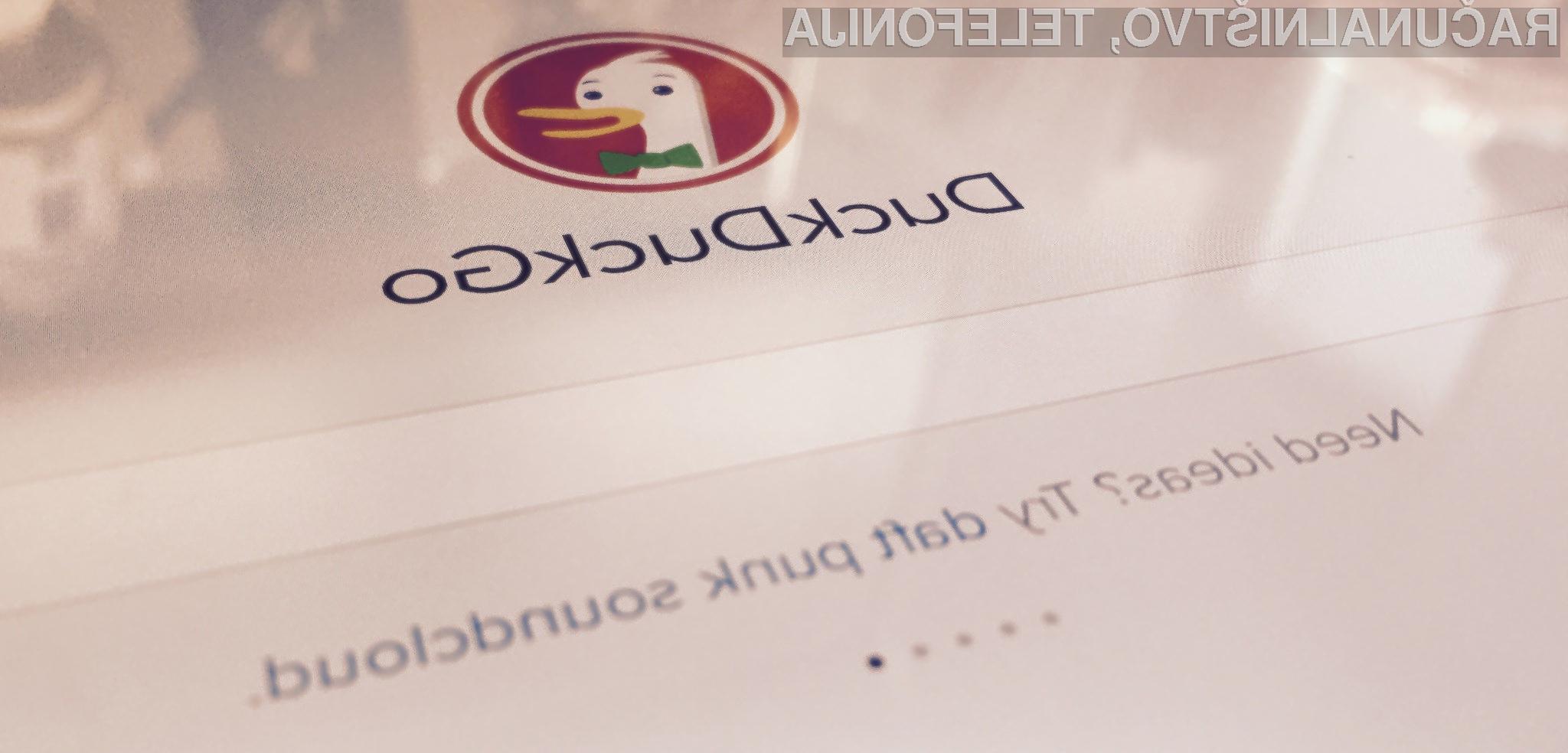 Spletni iskalnik DuckDuckGo je priljubljen predvsem na račun zagotavljanja zasebnosti!