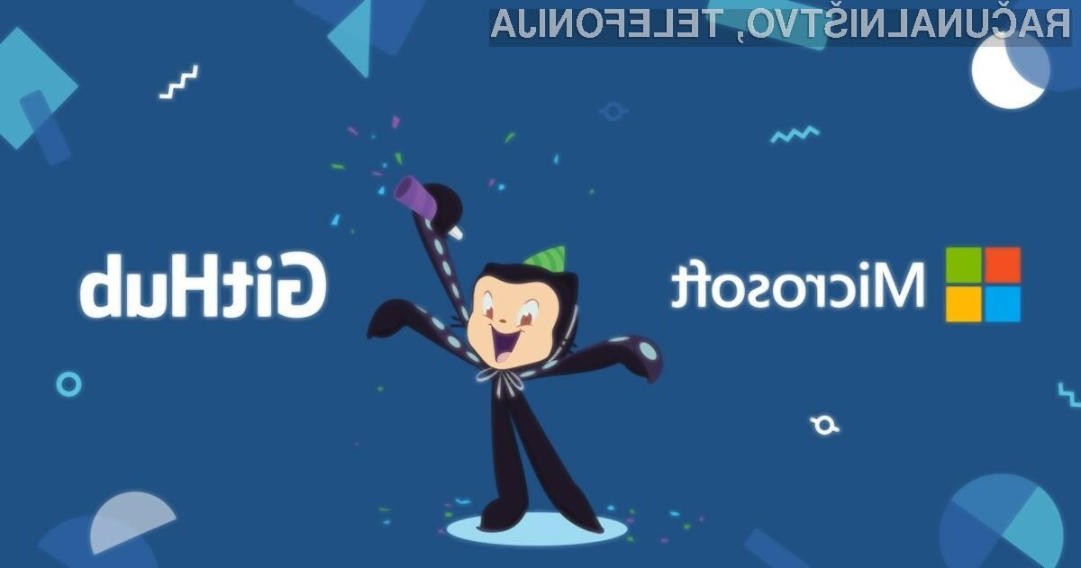 GitHub je lahko Microsoftov!