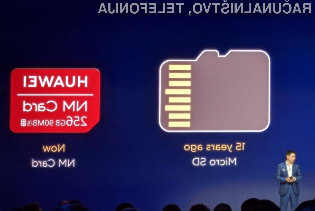 Posebnost pomnilniške kartice Nano Memory je v tem, da je ta po velikosti popolnoma enaka telefonski kartici nanoSIM.