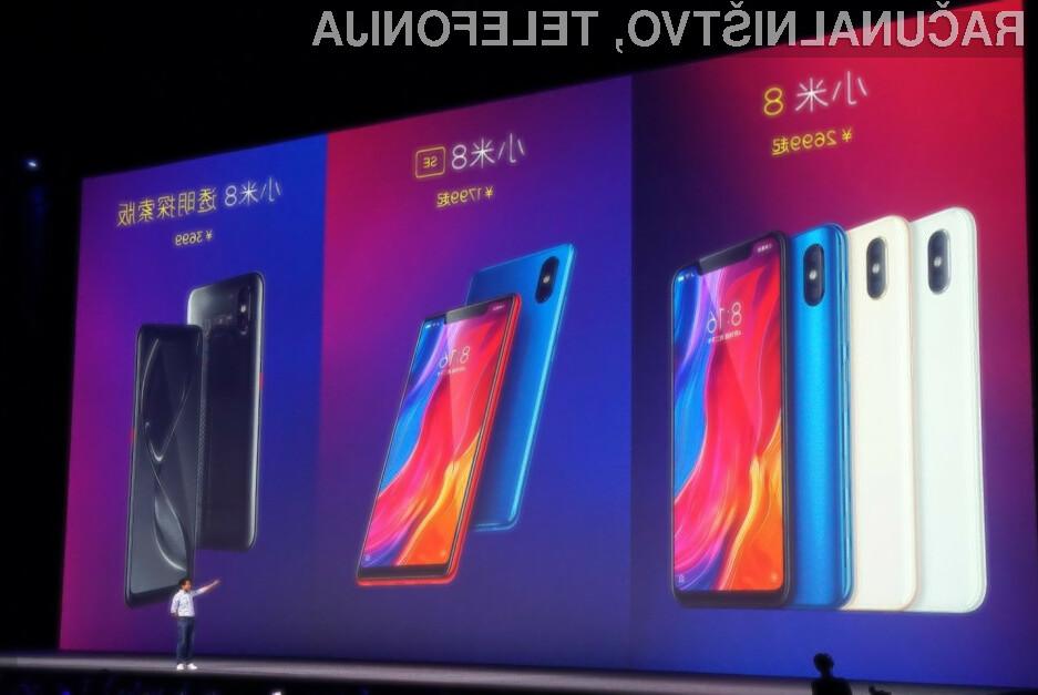 Pametni mobilni telefon Xiaomi Mi 8 se prodaja kot za stavo!