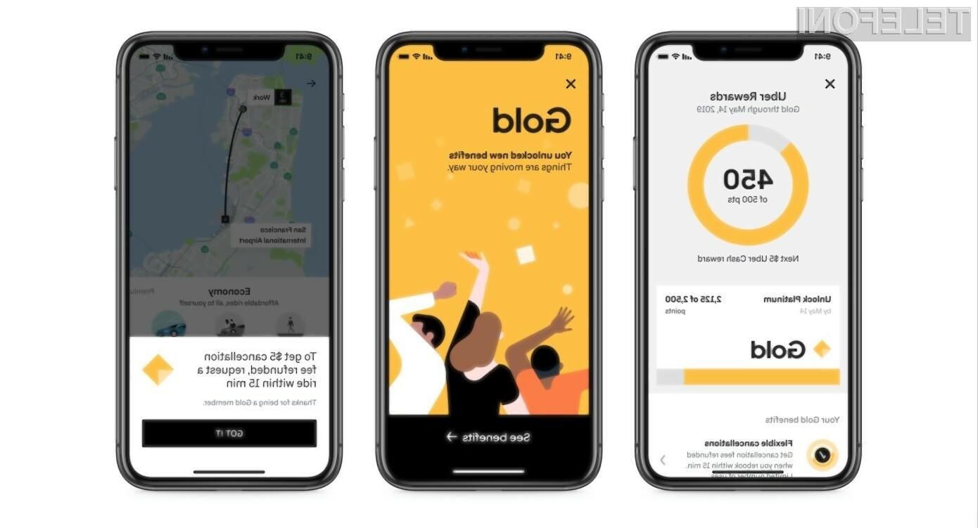 Poleg Lyfta sedaj še Uber z nagradami za zveste uporabnike