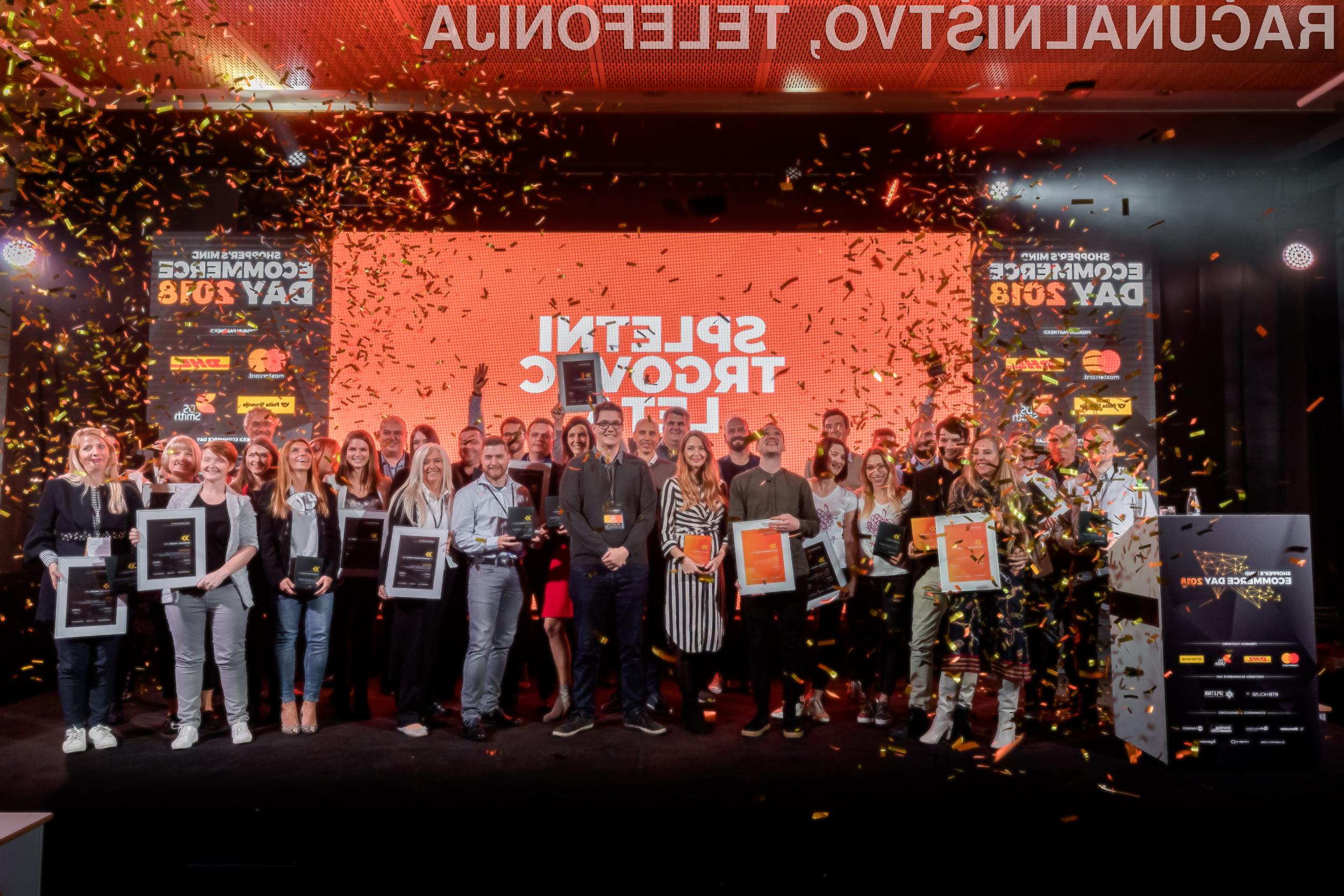 Zmagovalci letošnjega izbora Spletni trgovec leta 2018.