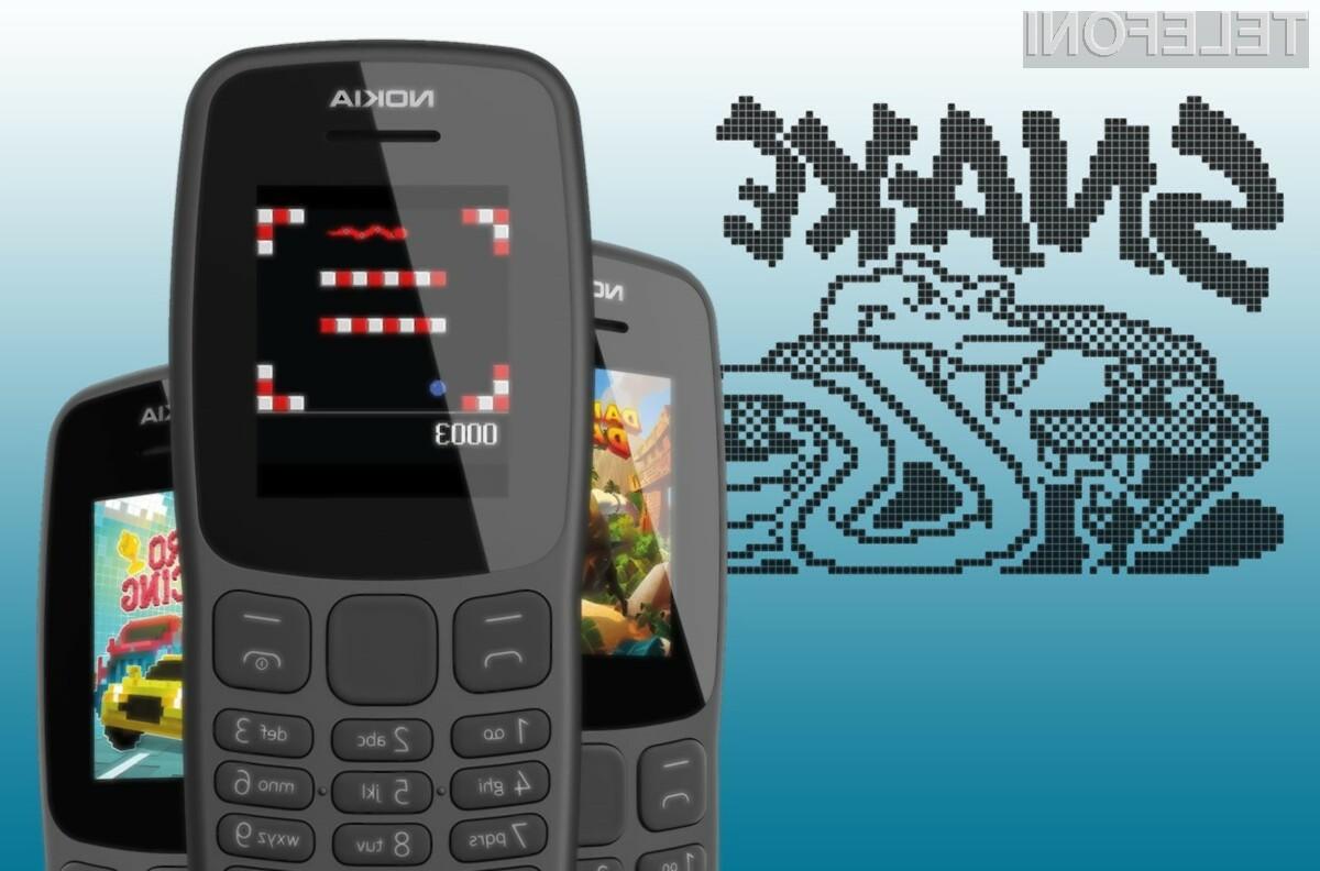 Telefon Nokia 106 izstopa predvsem na račun enostavnosti.