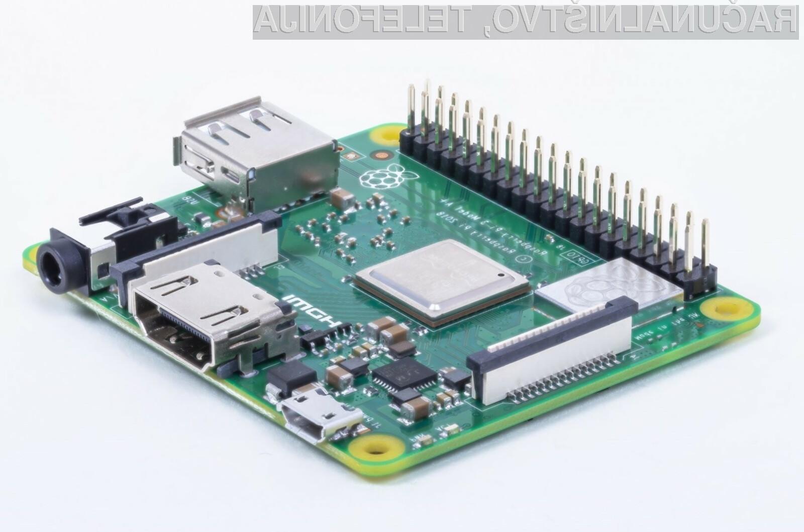 Kompaktni računalnik Raspberry Pi 3 Model A+ je nekoliko manjši, a znatno cenejši od predhodnikov.