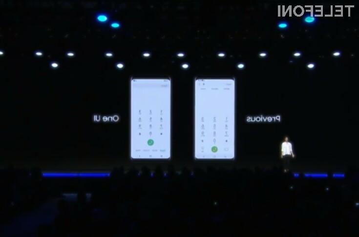 Novi uporabniški vmesnik Samsung One UI za mobilni operacijski sistem Android navdušuje v vseh pogledih!