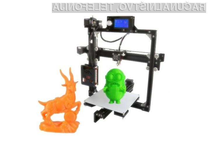 3D tiskalnik Anet A2 (High Precision Desktop) za malo denarja ponuja veliko.